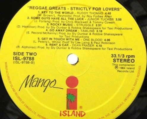 Reggae Greats Strictly For Lovers