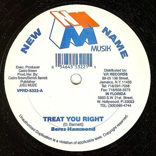 Treat You Right Riddim