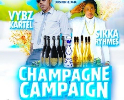 Vybz Kartel Sikka Rymes Champagne Campaign